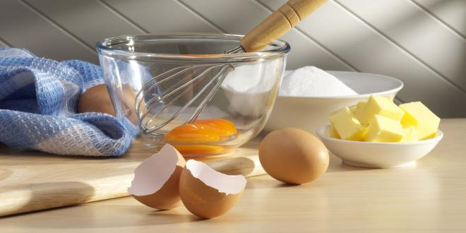 Essential ingredients for baking